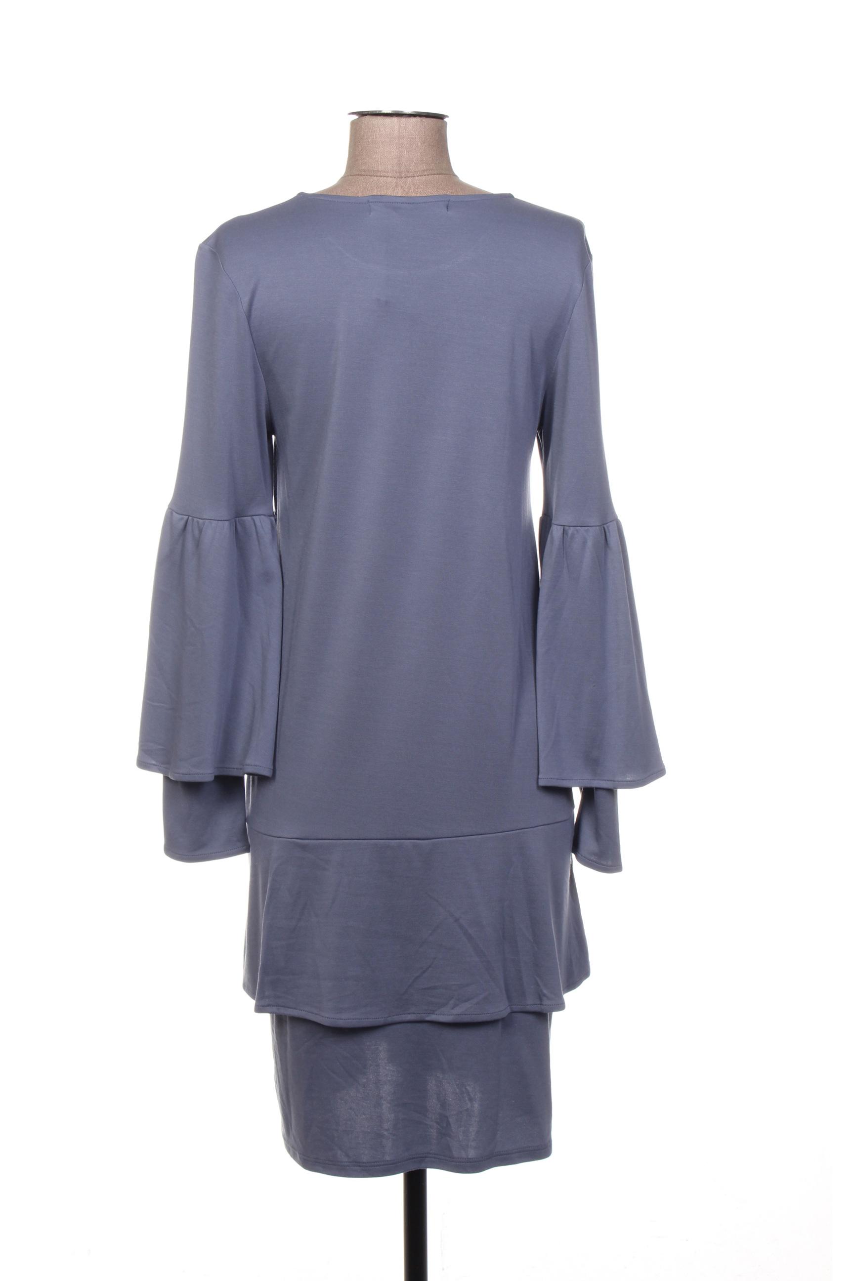 See The Moon Robes Mi Longues Femme De Couleur Bleu En Soldes Pas Cher 1405305-bleu00