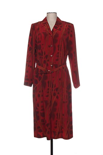 Robe mi-longue rouge DEELLE BOUTIQUE pour femme
