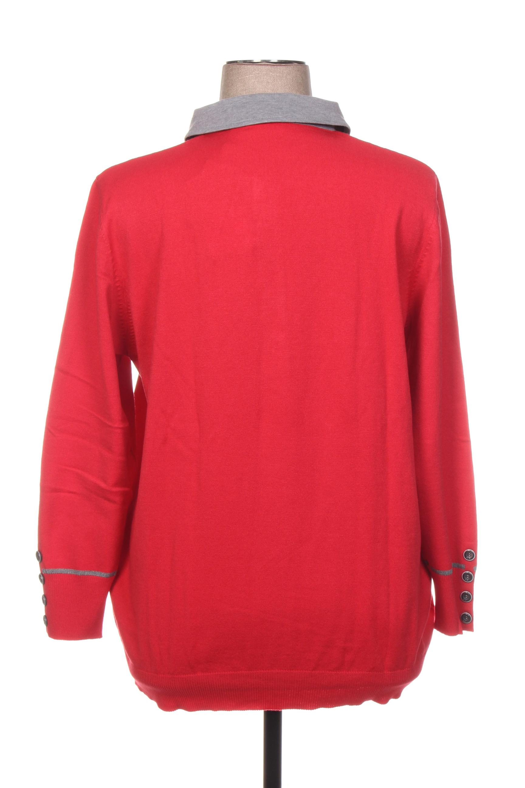 Rabe Col Chemisier Femme De Couleur Rouge En Soldes Pas Cher 1408197-rouge0