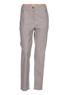 Pantalon casual marron ANNE KELLY pour femme