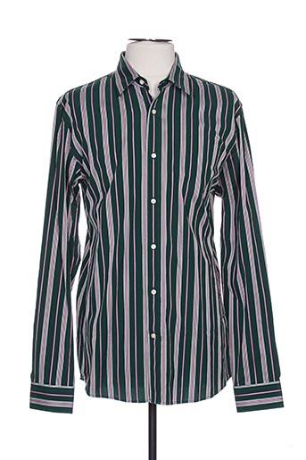 Chemise manches longues vert SCOTCH & SODA pour homme