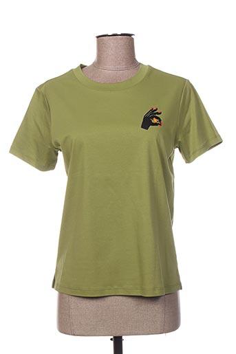T-shirt manches courtes vert MAISON SCOTCH pour femme