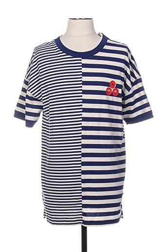 T-shirt manches courtes bleu SCOTCH & SODA pour homme