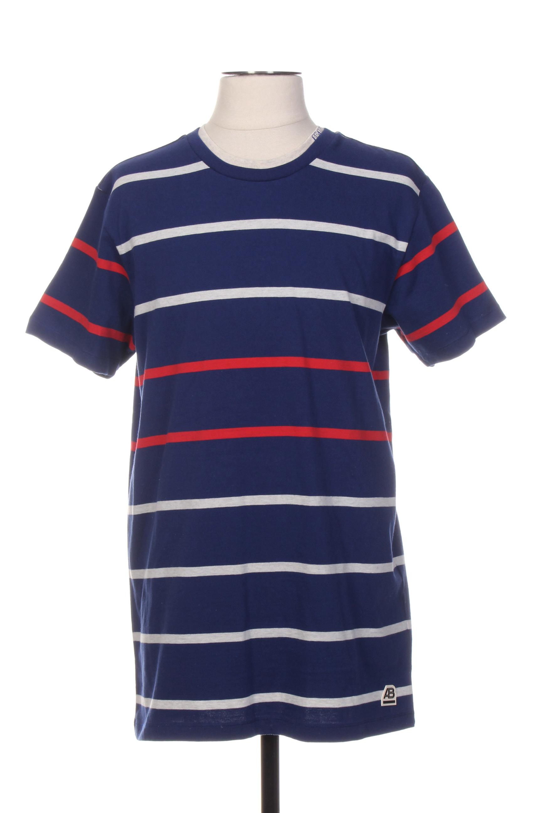 T-shirt manches courtes homme Scotch & Soda bleu taille : L 32 FR (FR)