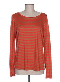 T-shirt manches longues orange MAISON SCOTCH pour femme