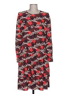 Robe mi-longue marron MAISON SCOTCH pour femme
