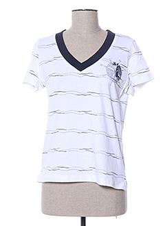 T-shirt manches courtes blanc JAC JAC pour femme