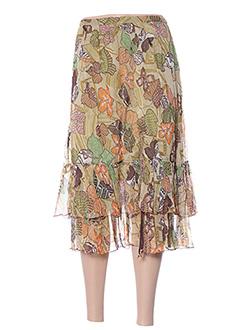 Jupe mi-longue vert JAC JAC pour femme