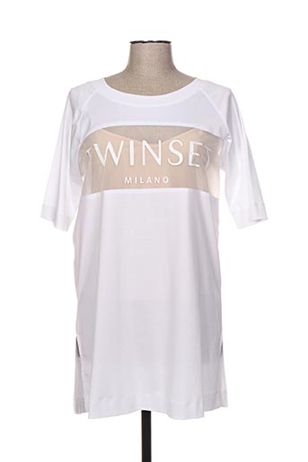 T-shirt manches courtes blanc TWINSET pour femme