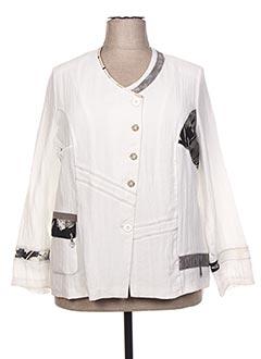 Veste casual blanc GUY DUBOUIS pour femme