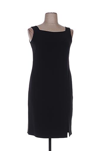 Robe mi-longue noir ALOUETTE pour femme