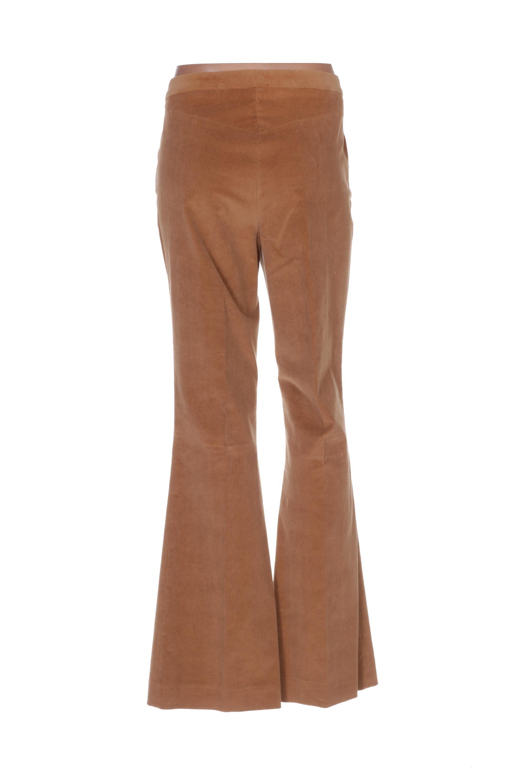 Toypes Pantalons Decontractes Femme De Couleur Marron En Soldes Pas Cher 1410207-marron