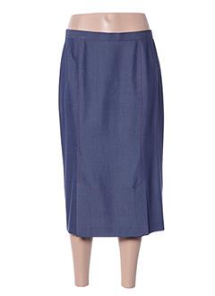Jupe mi-longue bleu FRANCOISE DE FRANCE pour femme