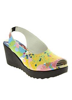 Sandales/Nu pieds jaune CLAMP pour femme