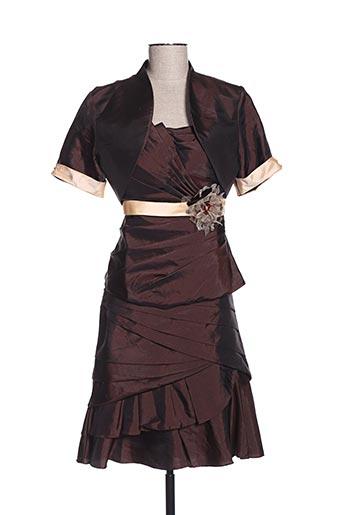 Veste/jupe marron CREATIF PARIS pour femme