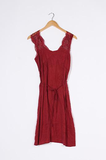 Robe mi-longue rouge COMPTOIR DES COTONNIERS pour femme