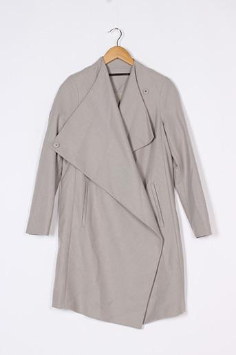 Manteau long gris ALL SAINTS pour femme