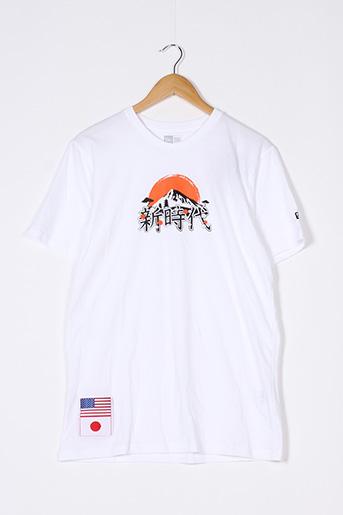 T-shirt manches courtes blanc NEW ERA pour femme