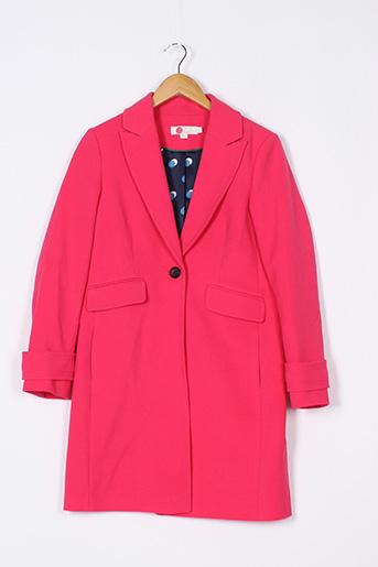 Manteau court rose BODEN pour femme