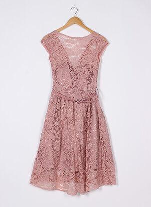 Robe mi-longue rose JOANIE pour femme