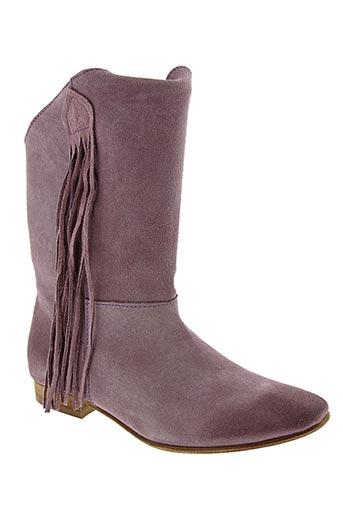 Bottines/Boots violet ETIK pour femme