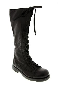 O.X.S Chaussures Bottes de couleur noir en soldes pas cher 1412433 noir00 Modz