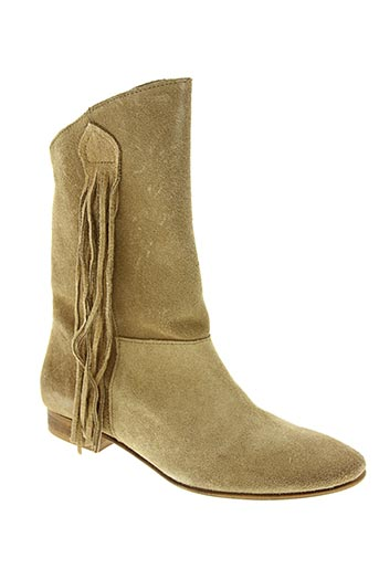 Bottines/Boots beige ETIK pour femme