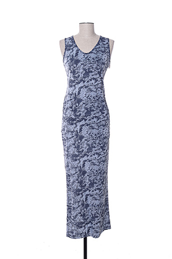 Robe longue bleu HBT pour femme
