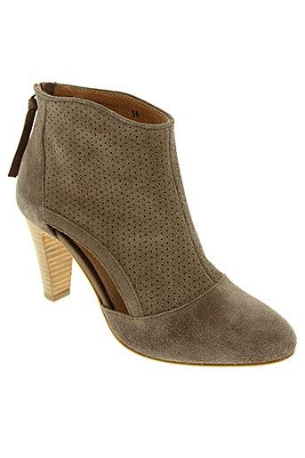 Bottines/Boots gris HE SPRING pour femme