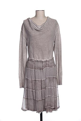 Robe pull marron EVA WEEK-END pour femme