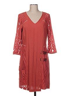 Robe mi-longue orange ET COMPAGNIE pour femme