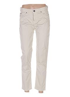 Pantalon 7/8 beige MENSI COLLEZIONE pour femme