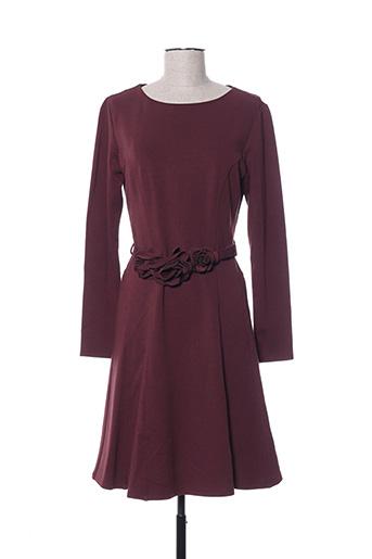 Robe mi-longue rouge BLANC NATURE pour femme