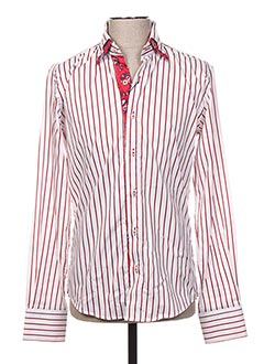 Chemise manches longues rouge EYES pour homme