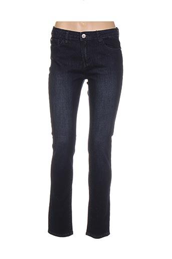 Jeans coupe slim bleu DIEGO REIGA pour femme