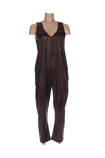 Combi-pantalon marron CHANTAL B. pour femme