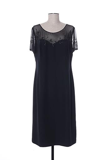 Robe mi-longue noir FRANK USHER pour femme