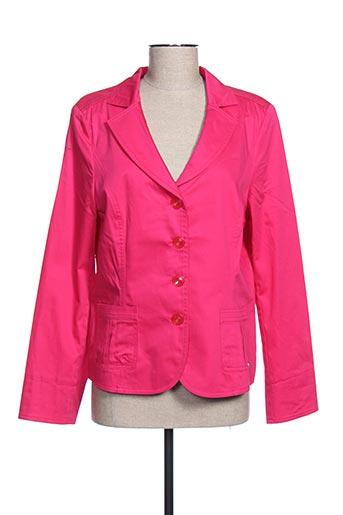 Veste chic / Blazer rose LUCIA pour femme