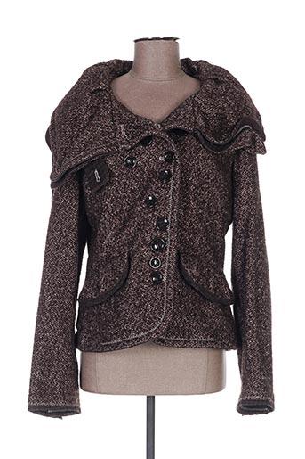 Veste casual marron EASY COMFORT pour femme