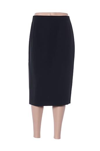 Jupe mi-longue noir CONSTANTIN pour femme