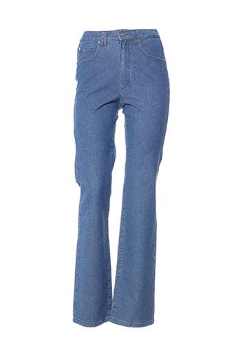 Jeans coupe droite bleu DISMERO pour femme