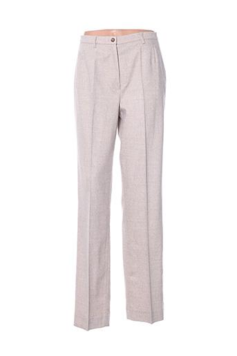 Pantalon chic beige HAUBER pour femme