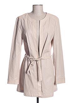 Manteau court beige CHANGE pour femme