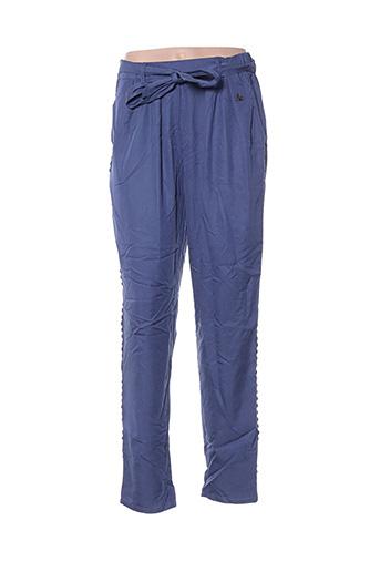 Pantalon casual bleu BLUTSGESCHWISTER pour femme