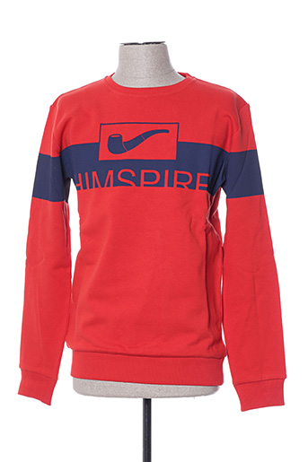 Sweat-shirt rouge HIMSPIRE pour homme
