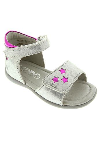 Sandales/Nu pieds gris MOD8 pour fille