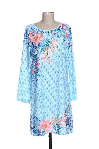 Robe mi-longue bleu EXQUISS'S pour femme