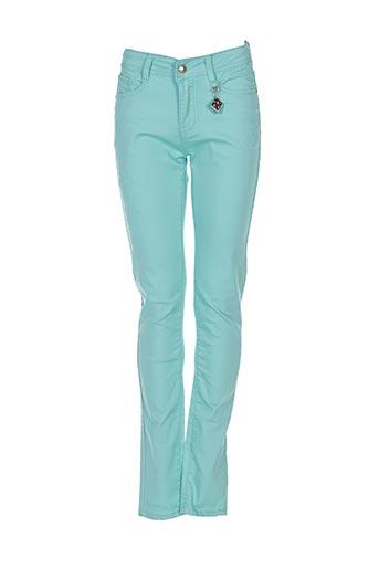 Pantalon casual vert MINI MIGNON pour fille
