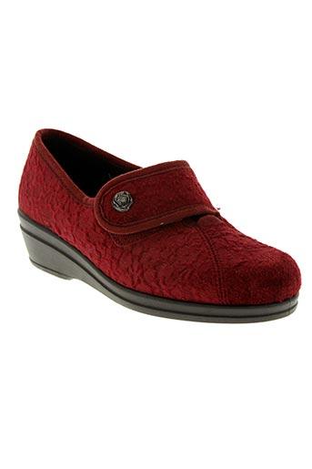 Chaussons/Pantoufles rouge ROHDE pour femme