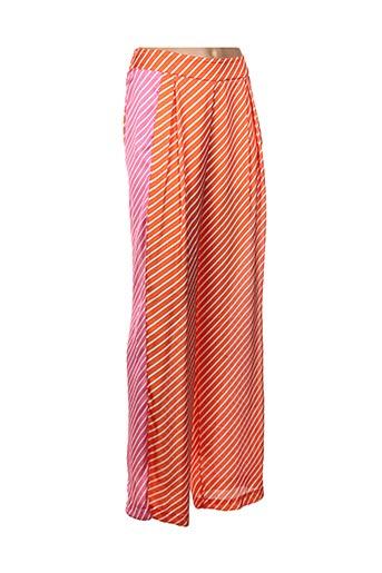 Pantalon chic orange ANNA RITA N pour femme